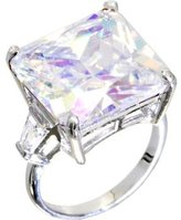 Body Candy Clear Square Cocktail Ring Size 6