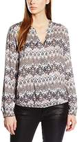 Gerry Weber Women's Print Coral Aztec Long Sleeve Blouse