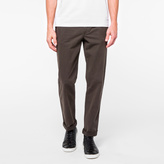 Paul Smith Men's Tapered-Fit Brown Garment-Dye Pima-Cotton Stretch Chinos