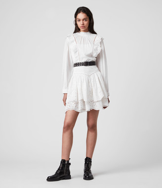 AllSaints Aislyn Broiderie Dress