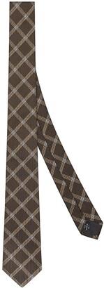 Fendi FF-logo checked tie