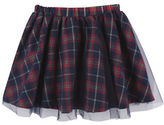 Andy & Evan Girls 2-6x Tulle Overlay Plaid Skirt