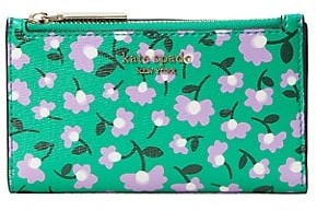 Kate Spade Spencer Party Floral Small Slim Bifold Wallet