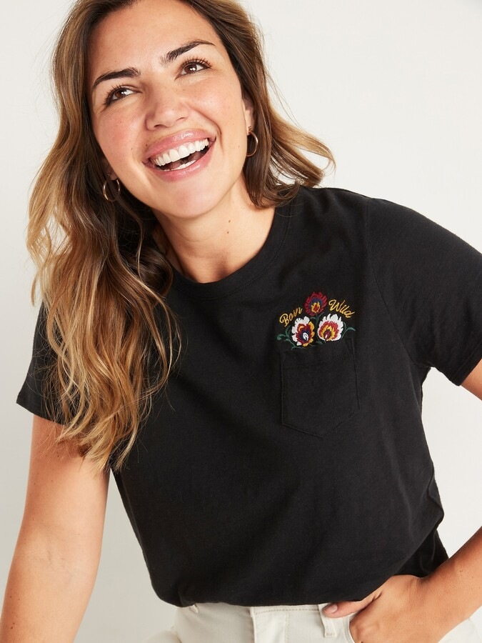 Thumbnail for your product : Old Navy EveryWear Slub-Knit Graphic Tee for Women
