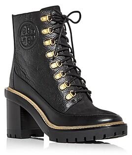 Tory Burch Women's Miller High Block Heel Combat Boots