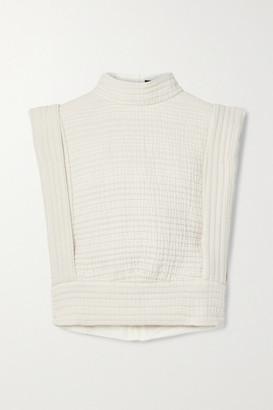 Isabel Marant Carola Quilted Cotton-gauze Vest - Ecru
