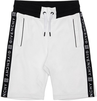 Givenchy Cotton Sweat Shorts W/ Logo Bands