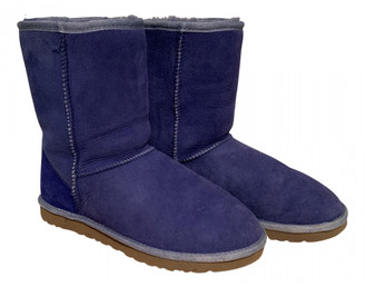 UGG Blue Faux fur Boots