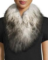 Adrienne Landau Ombre Mongolian Lamb Fur Scarf, Stone