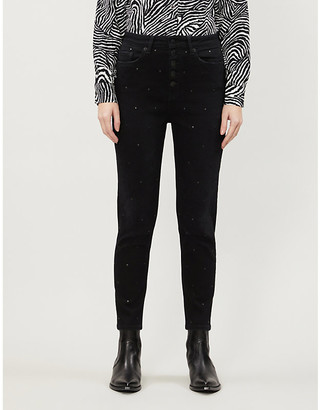 The Kooples Slim fit high-rise studded jeans