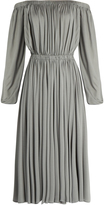 Valentino Off-the-shoulder silk-jersey midi dress