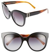 Burberry Women's 55Mm Gradient Cat Eye Sunglasses - Black