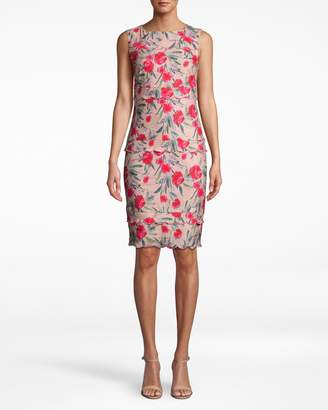 Nicole Miller Spring Garden Scallop Sheath Dress