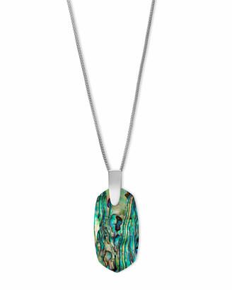 Kendra Scott Inez Long Pendant Necklace in Silver