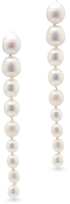 CHAINS AND PEARLS Pearl Icicle Earrings
