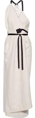 Rosetta Getty Boucle-tweed Maxi Wrap Dress