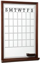 Study Wall Boards, Single, Dry Erase Calendar, Dark Espresso