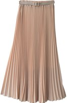 Norwaya Women's Pleated Retro Maxi Long Skirt One