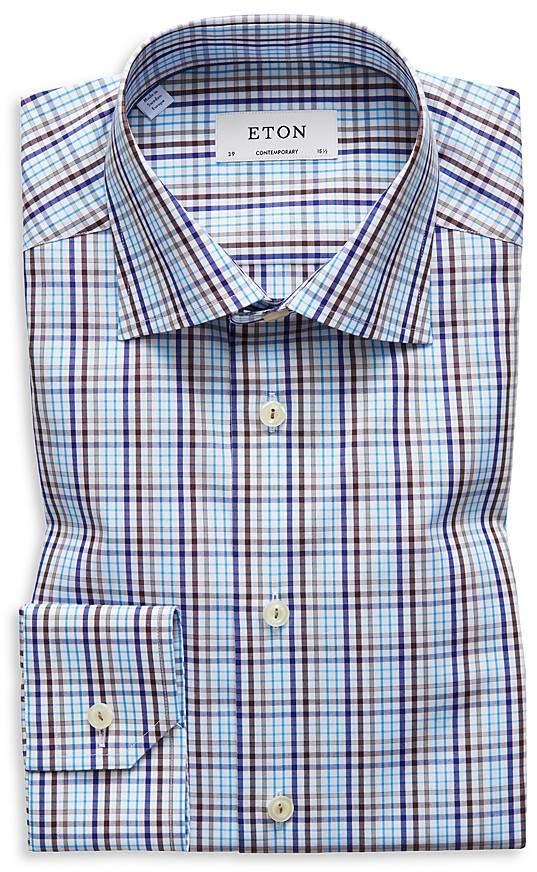 Eton Plaid Regular Fit Dress Shirt