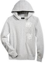 GUESS Men's Roy Embroidered Sweatshirt with Zip-Off Hood