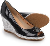 a. testoni Open-Toe Wedge Espadrilles (For Women)