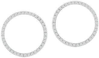 MATEO 14K White Gold Diamond Front-Facing Hoop Earrings