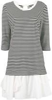 Moschino striped ruffle hem dress