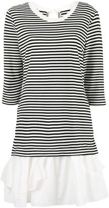 Boutique Moschino Striped Ruffle Hem Dress