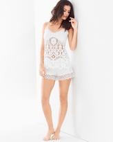Soma Intimates Las Flores Cami Pajama Shorts Set White
