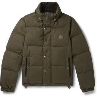 Belstaff Aviation Quilted Cotton-Canvas Down Jacket