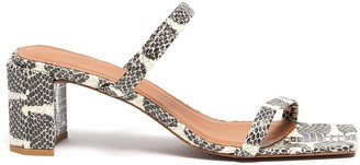 BY FAR 'Tanya' snake embossed leather sandals