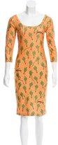 Jeremy Scott Printed Midi Dress w/ Tags