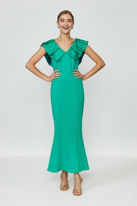 Coast Frill Neck Full Length Dress