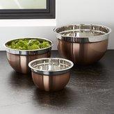 Crate & Barrel Copper Mixing Bowls