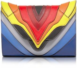 Elena Ghisellini Felina Mignon Rainbow Flag Multicolor Leather Crossbody