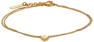 Saint Laurent Gold Pendant Anklet