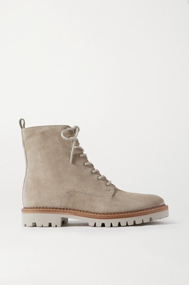 Vince Cabria Suede Ankle Boots - Off-white
