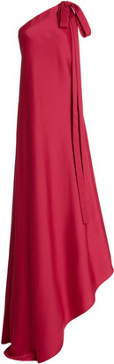 Cult Gaia Florence Asymmetric One-Shoulder Satin Gown