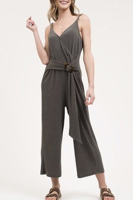 Blu Pepper Sleeveless Rib Knit Jumpsuit