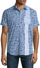 robert graham rosy boa multiprint shortsleeve shirt cobalt