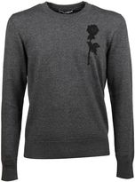 Dolce & Gabbana Grey Embroidered Jumper