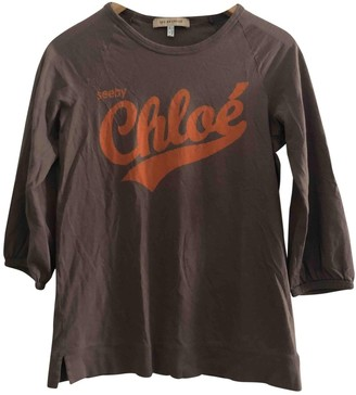 See by Chloe Brown Cotton Knitwear for Women