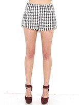 West Coast Wardrobe Tweed All About It Woven Shorts in Black & White
