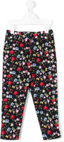 MonnaLisa floral print skinny trousers - kids - Cotton/Polyester - 5 yrs