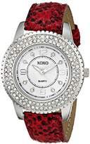 XOXO Women's XO3362 Analog Display Analog Quartz Red Watch