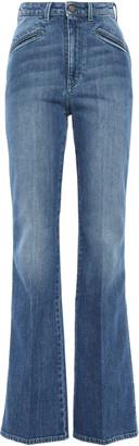 Philosophy di Lorenzo Serafini Faded High-rise Flared Jeans