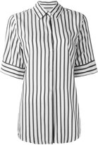 Studio Nicholson striped shortsleeved shirt - women - Silk - 0