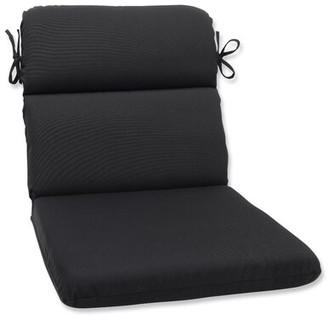 Ebern Designs Eastview Indoor/Outdoor Sunbrella Lounge Chair Cushion Fabric: Black