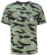 New Black Tiger Print Tshirt Wood