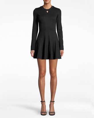 Nicole Miller Ponte Fit And Flare Dress